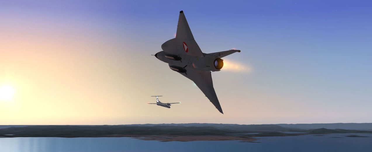 Features and special effects - Saab 35 Draken FSX 4 1